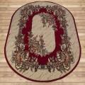 Ковер 1,8х1,8 Лайла де люкс Мрамор красный круг